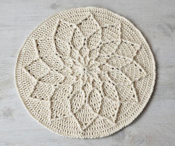 Minimalist Cabled Mandala Crochet Pattern