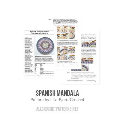 Spanish Mandala Crochet Pattern Allcrochetpatterns Net