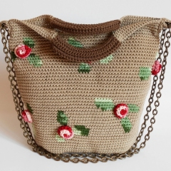3D Roses bag crochet by Chabepatterns