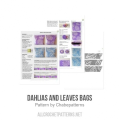 Dahlias and leaves bags crochet pattern by Chabepatterns