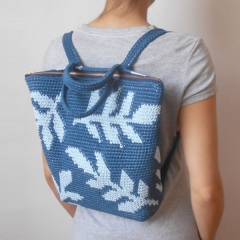 Leaves Backpack crochet pattern by Chabepatterns