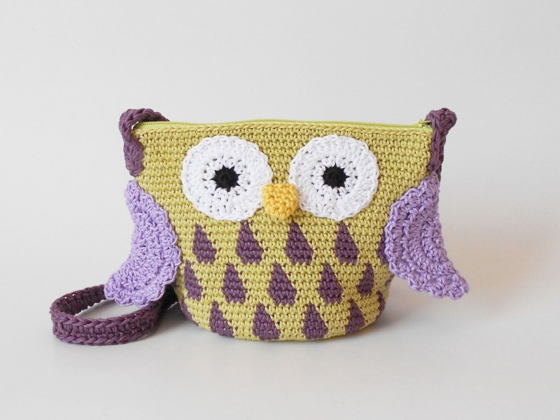 Owl Crossbody Bags Crochet Pattern Allcrochetpatterns