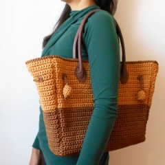 Two sizes bag crochet pattern by Chabepatterns