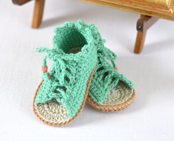Baby Gladiator Sandals Crochet Pattern Allcrochetpatterns