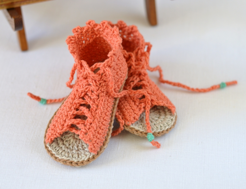 Crochet Baby Toe Sandals Free Pattern : Baby Gladiator Sandals crochet pattern ...