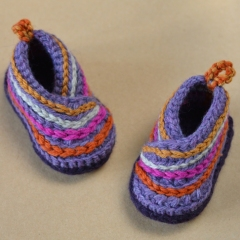 Baby Kimono Shoes crochet by Matilda's Meadow
