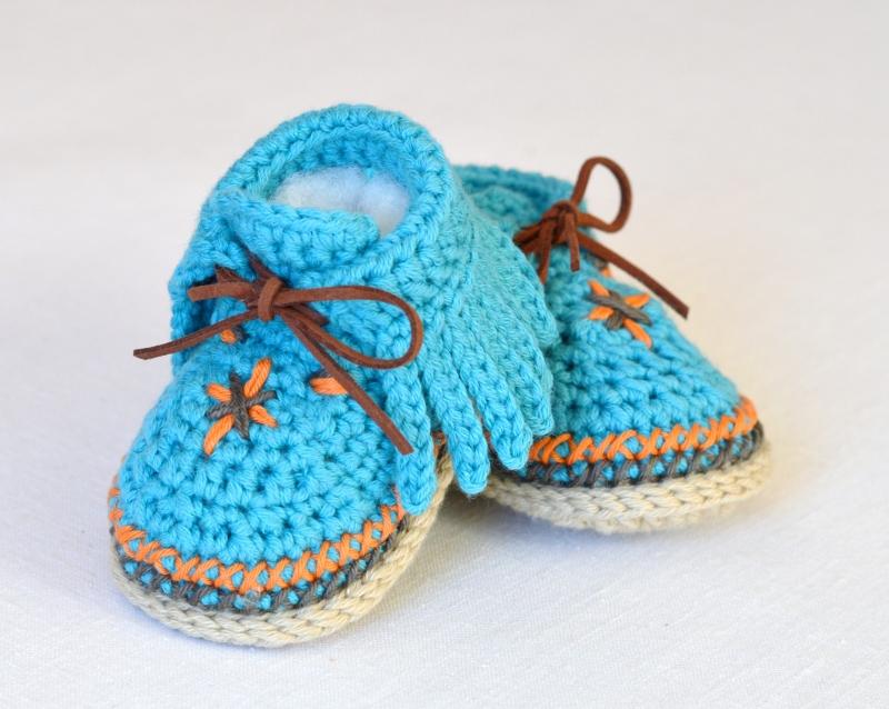 baby moccasins pattern crochet
