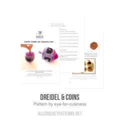 Dreidel & Coins crochet pattern by eye for cuteness