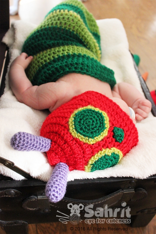 Crochet Caterpillar Hat Pattern : Hungry Caterpillar Hat and Cocoon crochet pattern ...