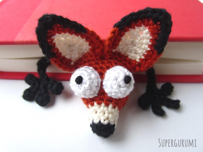 Amigurumi Fox : Amigurumi fox bookmark crochet pattern