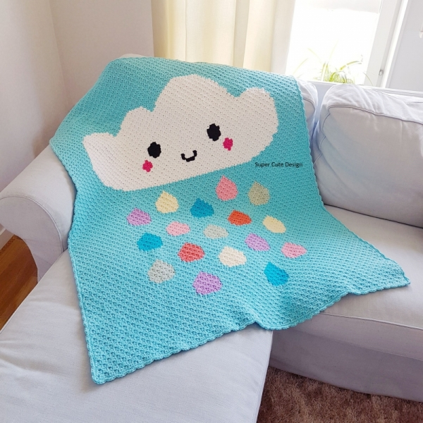 Cloud Blanket C2c Crochet Pattern Allcrochetpatterns Net