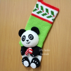 Panda Christmas Stocking crochet by Little Bamboo Handmade