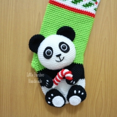 Panda Christmas Stocking crochet pattern by Little Bamboo Handmade