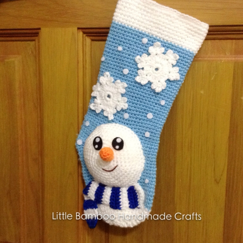 Snowman Christmas Stocking crochet pattern - Allcrochetpatterns.net