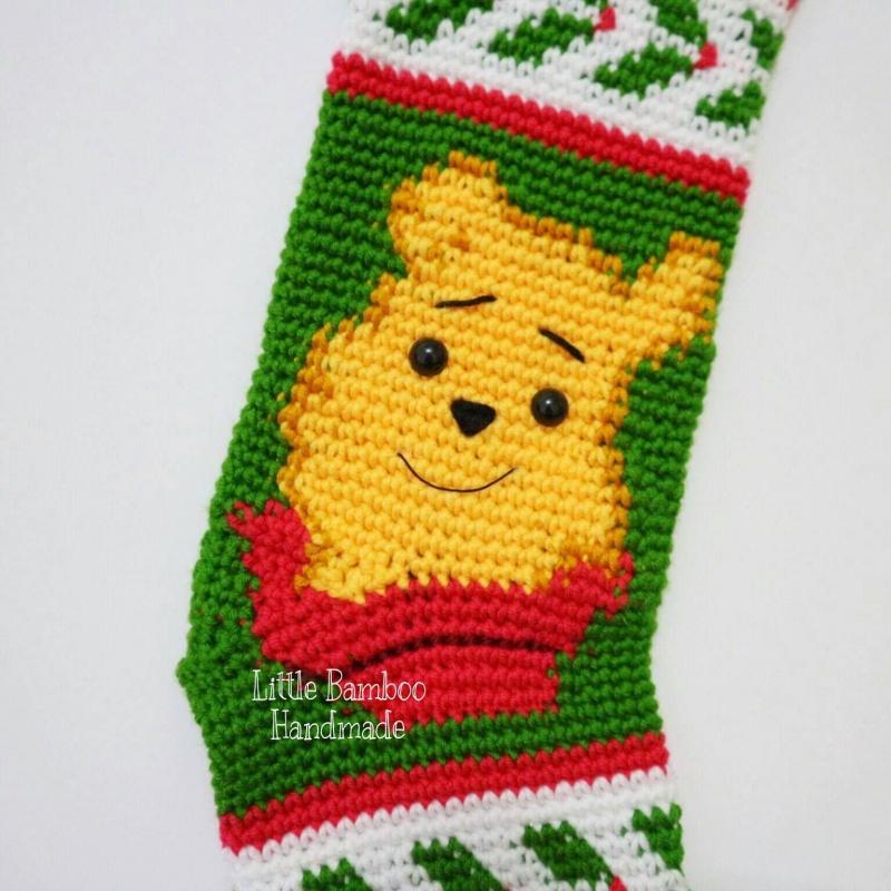 Winnie The Pooh Christmas Stocking Crochet Pattern