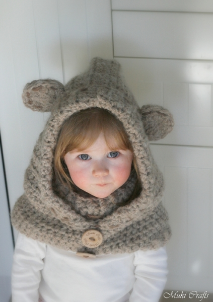 Crochet Baby Bear Cowl Pattern : Bear hooded cowl Jacob crochet pattern ...