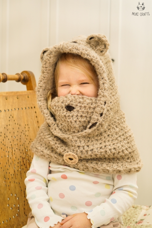 Bear Hooded Cowl Jacob Crochet Pattern Allcrochetpatterns