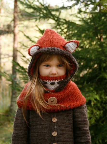 Fox Hooded Cowl Reed Crochet Pattern Allcrochetpatterns
