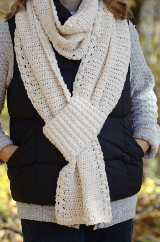 Gathered Buds Scarf and Ear Warmer Collection crochet pattern ...