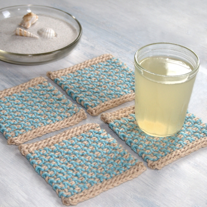 Interlaced Row Placemat And Coaster Set Crochet Pattern