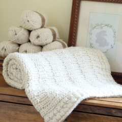 Ivory Dawn Baby Blanket crochet pattern by Hidden Meadow Crochet