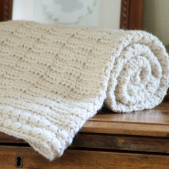 Ivory Dawn Baby Blanket crochet by Hidden Meadow Crochet
