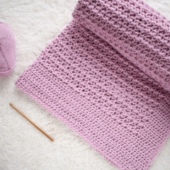 Nestlen Baby Blanket crochet pattern by Hidden Meadow Crochet