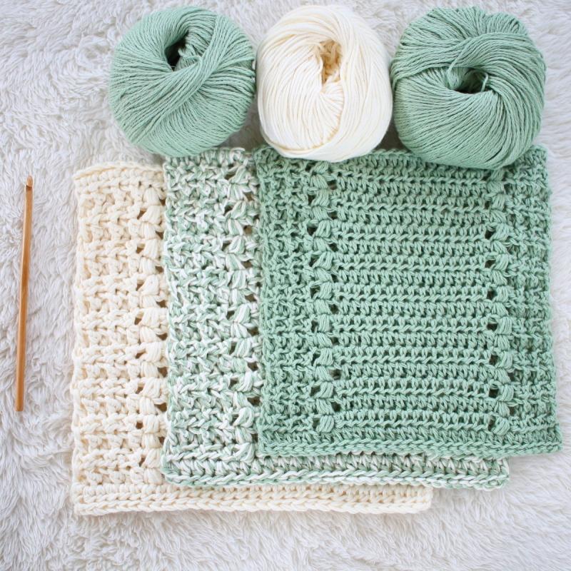 Rivers Edge Dishcloth And Hand Towel Set Crochet Pattern