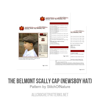 766459c932 The Belmont Scally Cap (Newsboy Hat) - Allcrochetpatterns.net