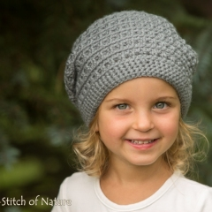 The Cooper Slouchy Hat crochet by Stitch of Nature