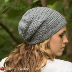 The Cooper Slouchy Hat crochet pattern by Stitch of Nature