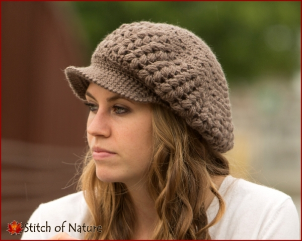 The Madison Scally Cap Newsboy Hat For Girls Crochet Pattern