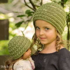 The Odessa Messy Bun Hat crochet by Stitch of Nature