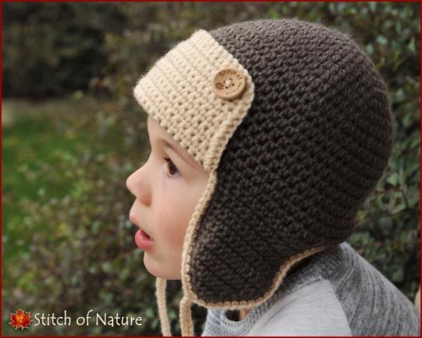 The Skylar Aviator Hat Pilot Hat Crochet Pattern