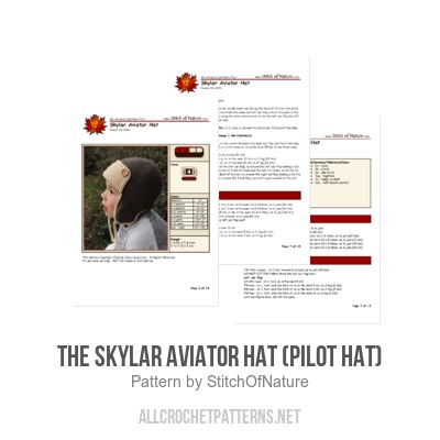 cbf813ac08a The Skylar Aviator Hat (Pilot Hat) crochet pattern by Stitch of Nature