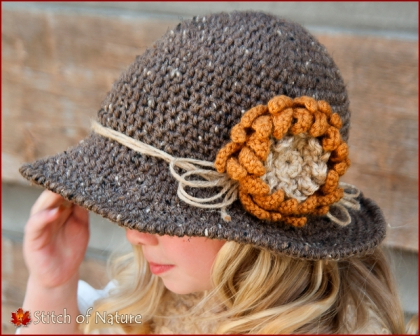 The Walden Sunflower Wide-brimmed Hat with Jute Twine Cord crochet pattern  by Stitch of 0d55fec979c