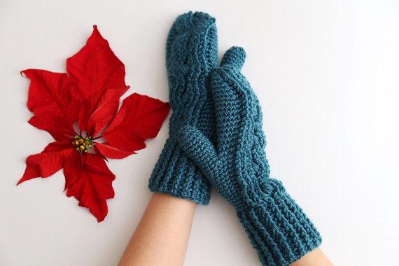 Madison Honeycomb Mittens Crochet Pattern Allcrochetpatterns
