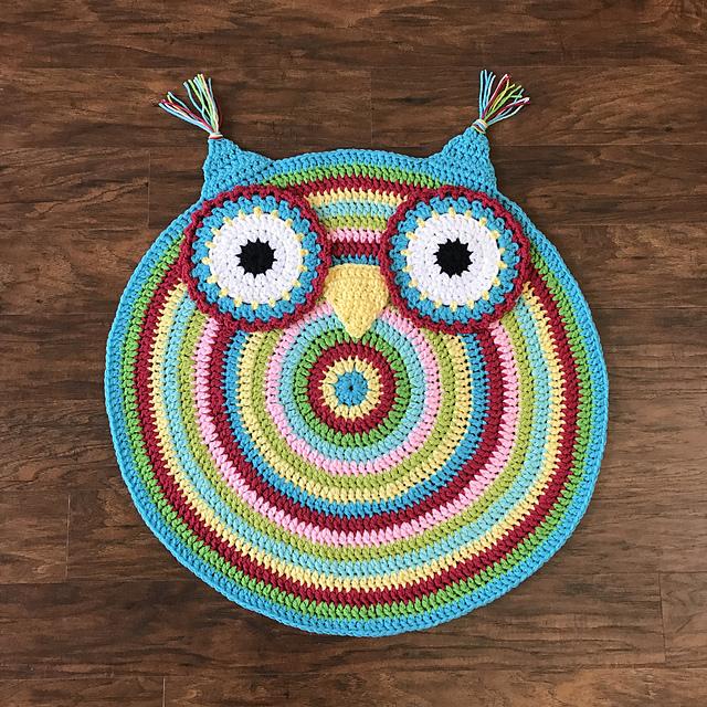 Crochet Owl Rug Pattern: Owl Nursery Rug Crochet Pattern