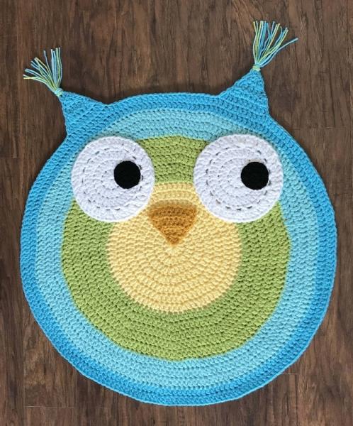 how to make a crochet owl rug