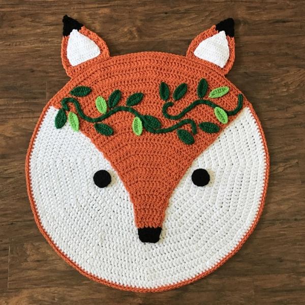Woodland Fox Nursery Rug Crochet