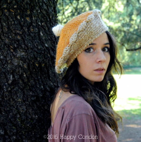 Pumpkin Pie Jam Tart Basque Beret Crochet Pattern