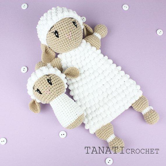 Comforter Rattle Lamb Crochet Pattern Allcrochetpatterns