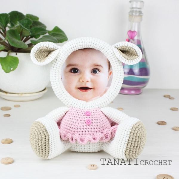 Photo Frame Lamb Crochet Pattern Allcrochetpatterns