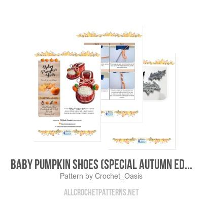 1f4548dad597a Baby Pumpkin Shoes (Special Autumn Edition) - Allcrochetpatterns.net