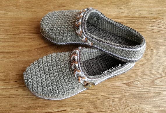 Womens Tribal Clogs Low Back Shoe Crochet Pattern