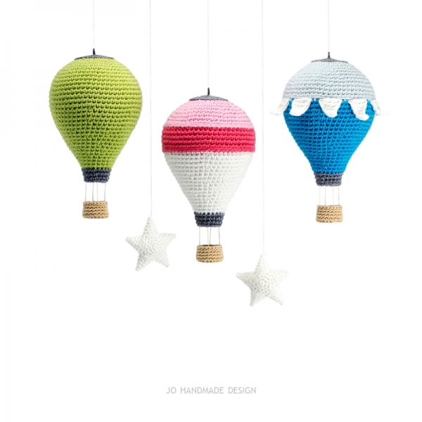 Hot Air Balloons with Basket and Stars crochet pattern ...