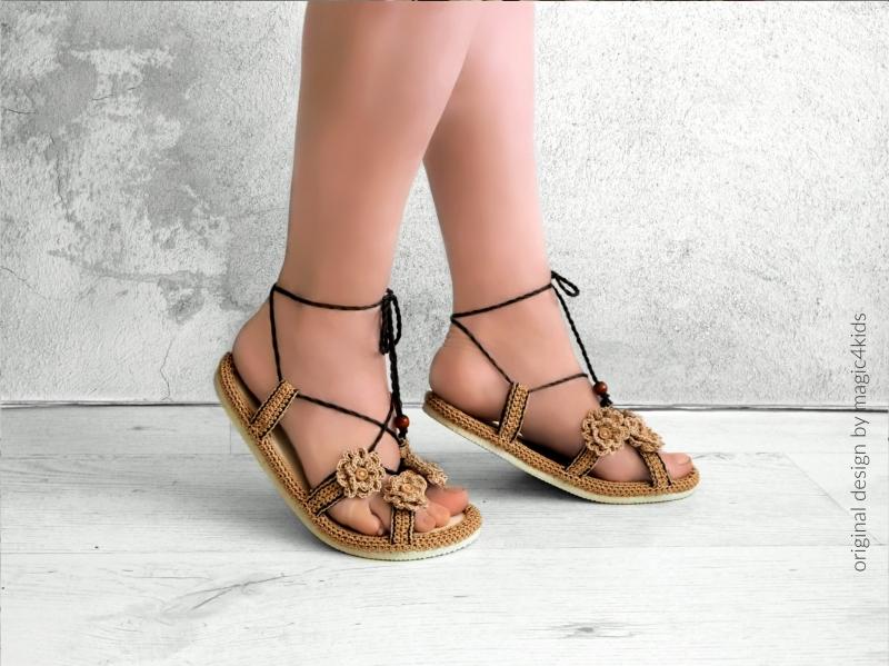 b74c5def5c48c Roman sandals on flip-flop soles - Allcrochetpatterns.net