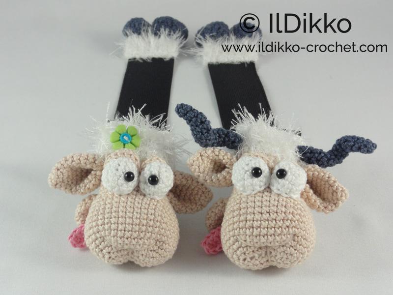 Baarney And Baarn The Sheep Bookmark Crochet Pattern