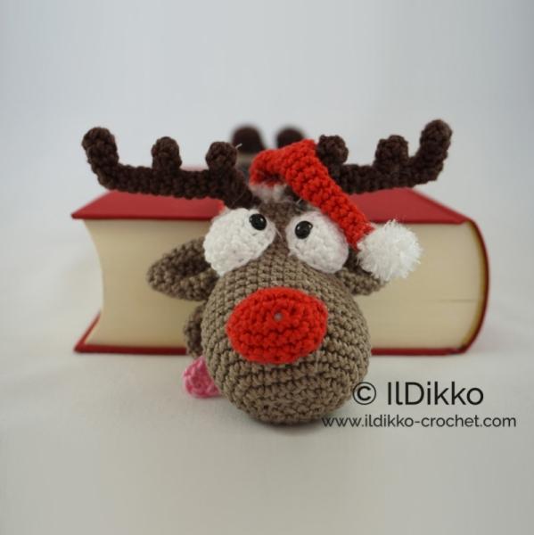 Rudolf The Reindeer Bookmark Crochet Pattern
