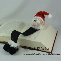 Santa Claus Bookmark crochet pattern by IlDikko
